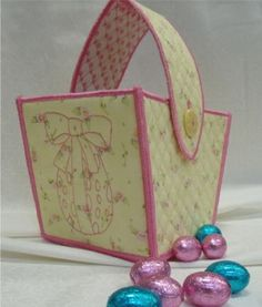 Easter gift packaging presentation ideas craft ideas pinterest embroidered easter treat gift basket15 negle Gallery
