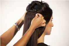 Look at the picture and apply these application methods to put clips in hair extensions and remove them from your hair easily and smoothly without damaging you hair.