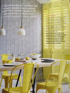 Ferm living Herringbone wallpaper in #HouseBeautiful magazine