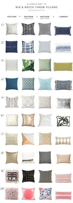 A simple way to mix and match throw pillows | My Paradissi