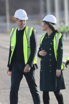 Kate Middleton Photos - Prince William, Duke of Cambridge and Catherine, Duchess of Cambridge visit the Northern Spire, an ambitious and striking new bridge over the River Wear, due to open in spring 2018 on February 21, 2018 in Sunderland, England. The Northern Spire is a key part of a wider transport plan to improve links between the Port of Sunderland and the city centre to help attract new jobs and investment. Their Royal Highnesses officially crossed the bridge and met engineers and…