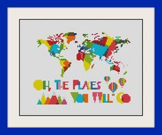 Hey, I found this really awesome Etsy listing at https://www.etsy.com/listing/237831998/oh-the-places-youll-go-world-map-nursery