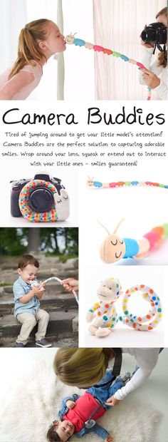 crochet camera Our Camera Buddies from Phoxi Tog are the perfect solution to capturing beautiful pictures of your little model. Instead of making funny faces, clapping, or dancing aroun Photography Poses For Men, Photography Camera, Photography Backdrops, Photography Props, Children Photography, Photography Tutorials, Photography Business, Family Photography, Crochet Camera