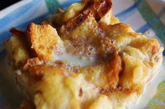 Pina Colada Bread Pudding with Vanilla Rum Sauce