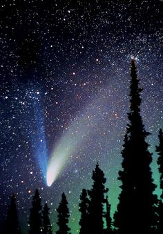 1997 ~ The last time this Great Comet named after its discoverers, Hale-Bopp, visited our solar system was 2213 B.C. and its next visit, if it doesn't melt, is due 4400 A.D.