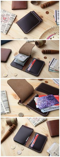 Horween #8 Chromexcel Money Clip Wallet, Mens Leather Money Clip Wallet, Mens Leather Bifold Wallet #accessories #wallet #leather #horween #horweenwallet #chromexcel #moneyclip #moneyclipwallet #handmade #leathergoods #everydaycary #handcraft #handstitched #leathercraft #bifoldwallet #bifold #cardholder #cardwallet Leather Money Clip Wallet, Leather Bifold Wallet, Leather Craft, Handmade Leather, Customised Gifts, Leather Working, Card Wallet, Hand Stitching, Leather Men