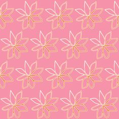 Spring Floral Frosty Flowers Pink fabric by smuk on Spoonflower - custom fabric