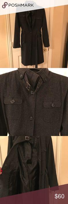 Esprit coat Esprit charcoal gray coat. EUC from non smoking home. Esprit Jackets & Coats