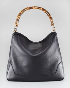 Diana Large Hobo Bag, Black by Gucci