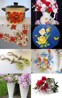 """Sending Flowers to My Friends"" EPSteam by Denise of OldAndNew8 --Pinned with TreasuryPin.com"