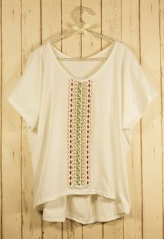 Bohemian Embroidery T-shirt - Tops - Retro, Indie and Unique Fashion - StyleSays