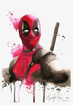 The Happy Sorceress — Deadpool by maiupetite Films Marvel, Marvel Art, Marvel Dc Comics, Marvel Characters, Marvel Heroes, Spiderman Venom, Comic Books Art, Comic Art, Comics