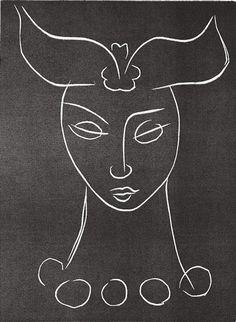 Matisse Pasiphaë 1944 Linocut