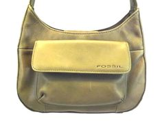 Fossil Women's Handbag Shoulder Purse, Olive Brown Leather, Small bag, Organizer