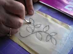 How to Transfer an Embroidery Design.