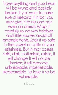 To luv is to b vulnerable