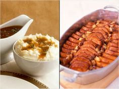 Which is worse? Candied Yams vs. Mashed Potatoes with Gravy. #Thanksgiving http://www.ivillage.com/choose-healthier-holiday-food/4-b-295142#295248