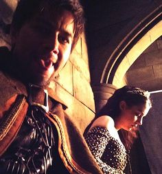 Torrance Coombs and Adelaide Kane on the set of Reign!