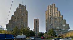 Rudo Buildings - 1973-76 by V.Ćirković & M.Jerotijević - #architecture #googlestreetview #googlemaps #googlestreet #serbia #belgrade #brutalism #modernism
