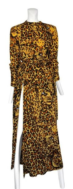 Vintage Yves Saint Laurent Leopard Gown @ Resurrection Vintage #YSL