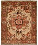 $2376.00 - 4'x6' - RugStudio presents HRI Serapi Heritage SH-16 Ivory A Hand-Knotted, Best Quality Area Rug