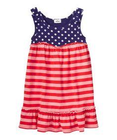 Look what I found on #zulily! Indigo Bottle & Pink Stripe Dress - Infant & Girls #zulilyfinds
