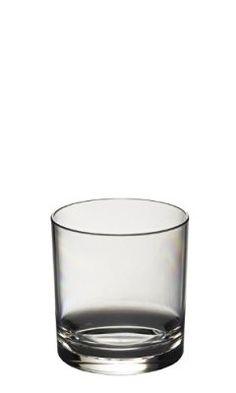 6 Verres à Whiskey/Jus de fruit Roltex Polycarbonate empilables, incassables et réutilisables (volume 275ml/9.65 oz Hauteur 8 cm Diamètre max 7.4cm)