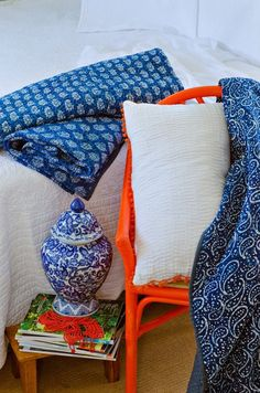 Indian Kantha stitched quilts