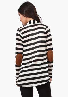 Comfy Striped Cardigan.