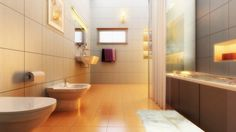 Bathroom interior rendering