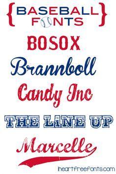 6 Free Baseball Fonts - I Heart Free Fonts  ~~ {w/ easy download links}