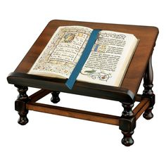 Antiquarian Wood Book Easel Design Toscano books bookstands gothic bookstands, Brown
