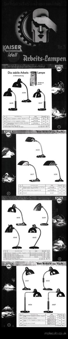 Simple Rare Kaiser u Co Work Lamp Catalogue Pages to KaiserIdell