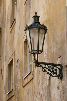 Gold (not Golden) street lantern