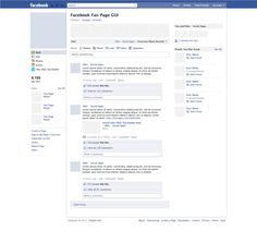 Facebook template PSD full editable¡