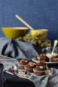 ¡Qué cosa tan dulce!: Muffins veganos de chocolate y plátano