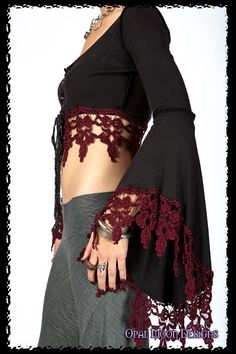 NEW FABRIC The Original Gypsy Crochet Crop Top (YOUR SIZE)