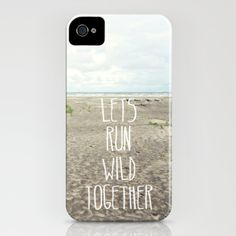 lets run wild together iPhone Case by Sylvia Cook Photography - $35.00  #iphonecase #samsungS4 #samsungcase #phonecase