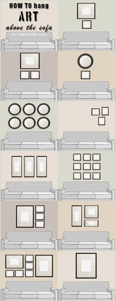 Frames distribution. Decor ideas for wall.
