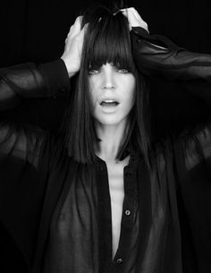 Channeling Mia Wallace. I want this hair for the fall.