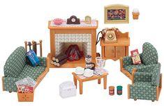 Sylvanian Families – 5037 – Salle de Séjour de Luxe – Mini-Poupée: Un salon très cosy pour le confort de vos Sylvanian. Cette salle de…