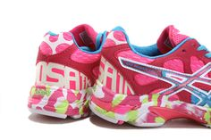 Asics Gel Noosa Tri 7 Shoes Pink Red Blue For Women