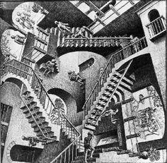 Onderwijs en zo voort ........: 1991. Escher : Groepsopdracht in de stijl van Esch...