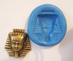 Large EGYPTIAN PHAROAH Flexible Silicone Push Mold for Polymer clay, Resin,Wax,Miniature