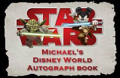 Star Wars autograph book with a personalized cover for your Disney vacation. $15.00, via Etsy.