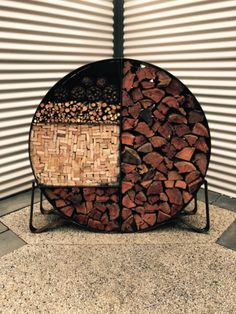 Firewood Holder / Fire wood storage | Other Home u0026 Garden | Gumtree Australia Mitchell Area - Wallan | 1152646763 & Giant. Round. wood.  coal. Kinderling. Store. For. Wood / coal ...