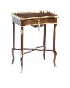 A magnificent antique French parquetry occasional table, circa 1870.