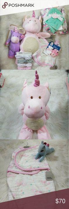 Hudson baby plush blanket /& security blanket garçons whale /& pink elephant