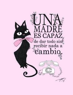 digital illustration of a black cat wearing a pink bow, stylized telephone for my mom by Neysa Bové neysabove.blogspot.com