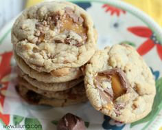 Milky Way Caramel Cookies #cookies